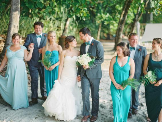 teal destination wedding in costa rica
