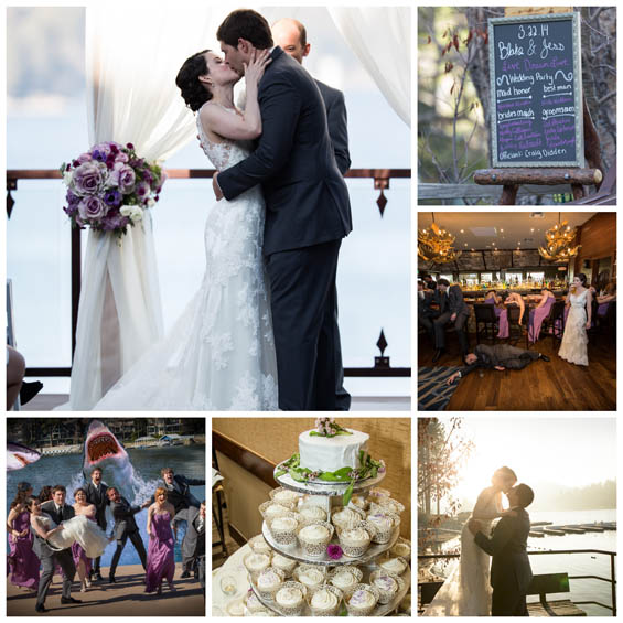 Lake Arrowhead Resort Collage Lavender, Grey and Ivory Wedding